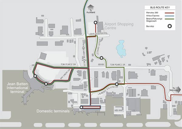 auckland airport bus route map