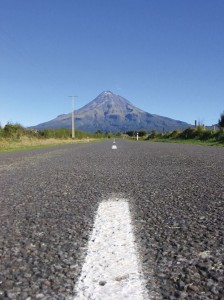 Road to Mount Taranaki