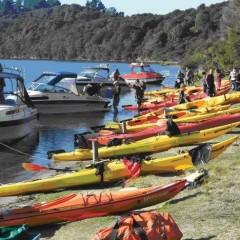 Hot Water Beach campsite on Lake Tarawera